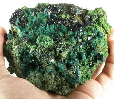 Azurite, Malachite, Bayldonite, Olivenite