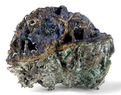 Azurite, Antlerite, Aurichalcite