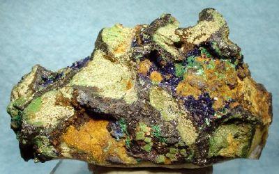 Azurite, Malachite, Chalcocite