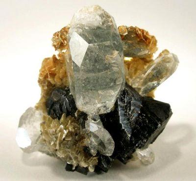 Beryl (Var: Aquamarine), Cassiterite, Muscovite