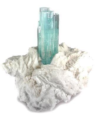 Beryl (Var: Aquamarine), Albite