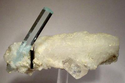 Beryl (Var: Aquamarine), Topaz, Elbaite, Albite