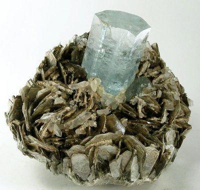 Beryl (Var: Aquamarine), Quartz, Muscovite