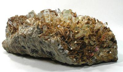 Beryl (Var: Aquamarine), Muscovite