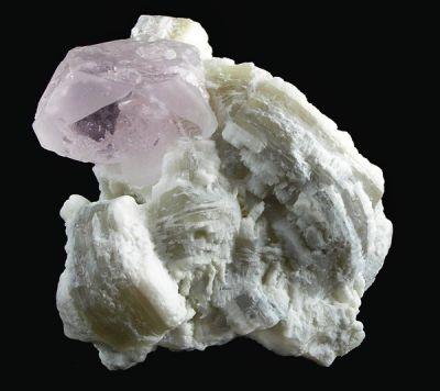 Beryl (Var: Morganite), Lepidolite, Albite (Var: Cleavelandite)