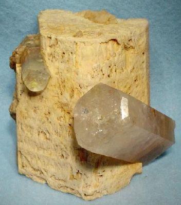 Beryl (Var: Morganite), Beryl (Var: Goshenite), Feldspar Group