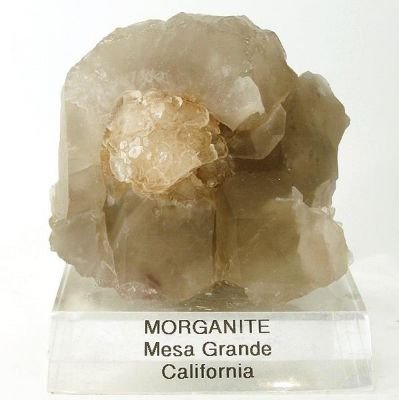 Beryl (Var: Morganite), Quartz (Var: Smoky Quartz)