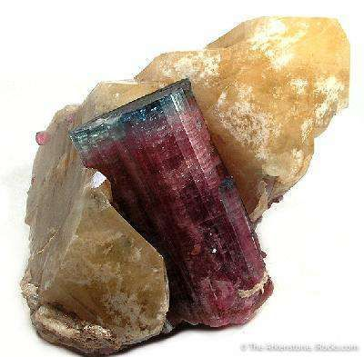 Bluecap Tourmaline on Quartz