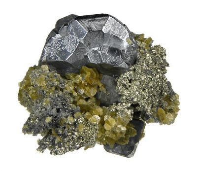 Bournonite, Siderite, Pyrite