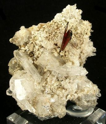 Brookite, Quartz