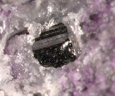 Calaverite, Fluorite