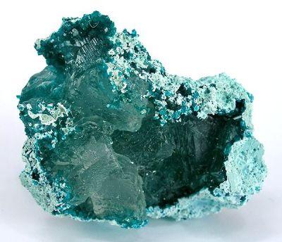 Calcite, Dioptase, Chrysocolla
