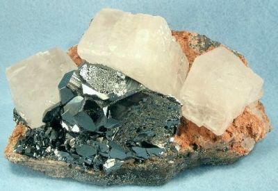 Calcite, Hematite, Andradite