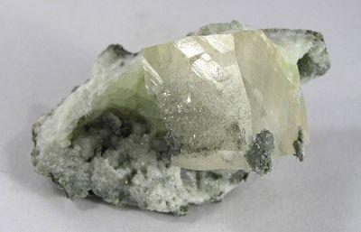 Calcite, Prehnite, Chalcopyrite