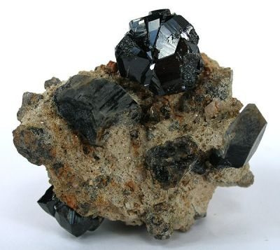 Cassiterite, Quartz (Var: Smoky Quartz)