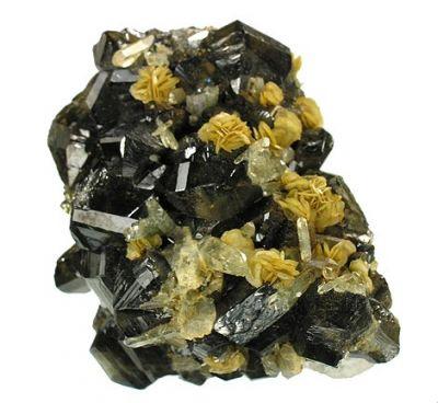 Cassiterite, Quartz, Siderite