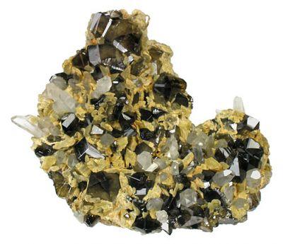 Cassiterite, Siderite, Quartz