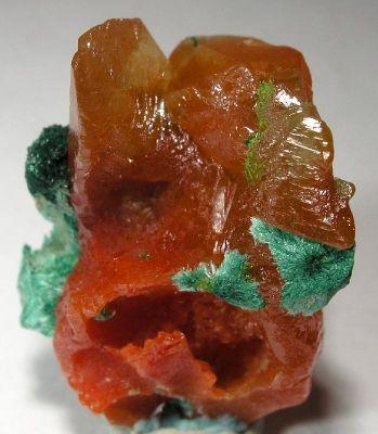 Cerussite, Malachite, Calcite