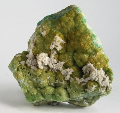 Cerussite, Smithsonite (Var: Cuprian Smithsonite)