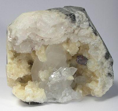 Cinnabar, Quartz, Calcite