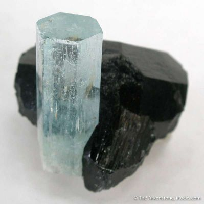 Aquamarine in Schorl