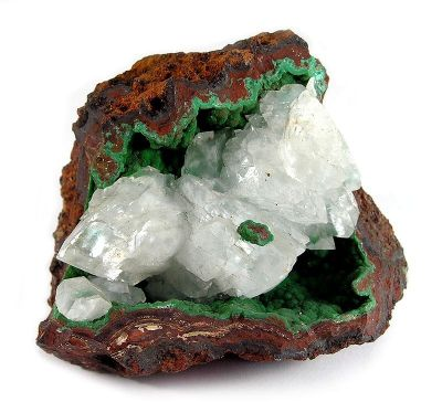 Conichalcite, Calcite