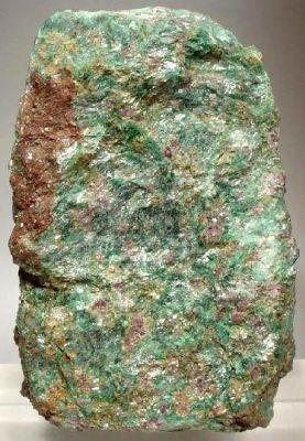 Corundum (Var: Ruby), Muscovite (Var: Fuchsite)