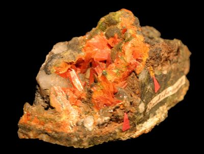 Crocoite, Vauquelinite, Embreyite