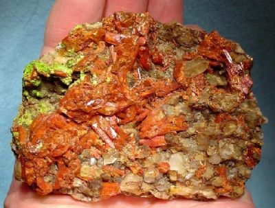 Crocoite, Quartz