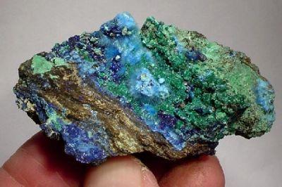 Cyanotrichite, Malachite, Azurite