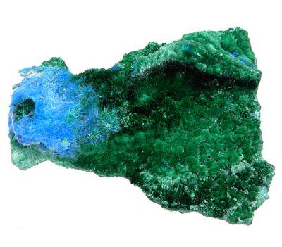 Cyanotrichite, Brochantite, Malachite, Chalcoalumite