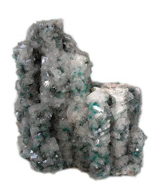 Dioptase, Calcite