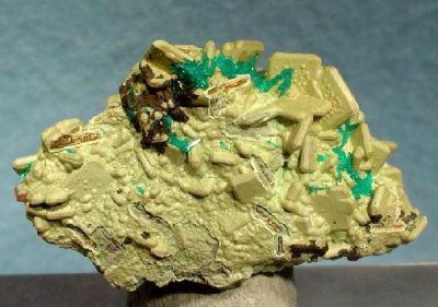 Dioptase, Hydrozincite, Wulfenite