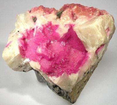 Dolomite (Var: Cobaltoan Dolomite), Calcite