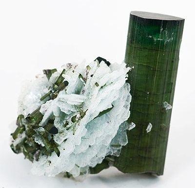 Elbaite, Albite (Var: Cleavelandite), Lepidolite