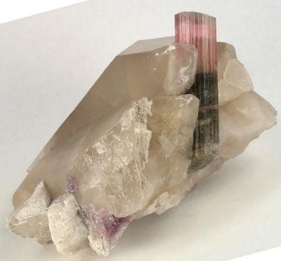 Elbaite, Quartz, Albite, Lepidolite