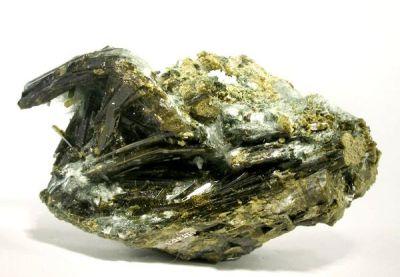 Epidote, Actinolite (Var: Byssolite)