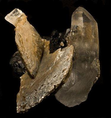 Ferberite, Quartz, Siderite