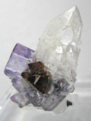 Fluorite, Scheelite, Quartz