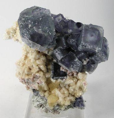 Fluorite, Calcite, Rhodochrosite