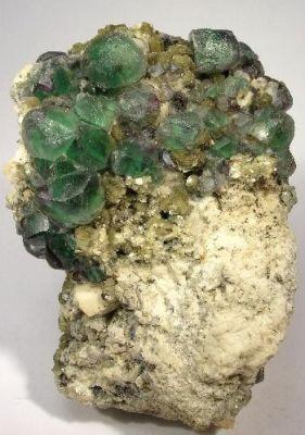 Fluorite, Muscovite, Albite