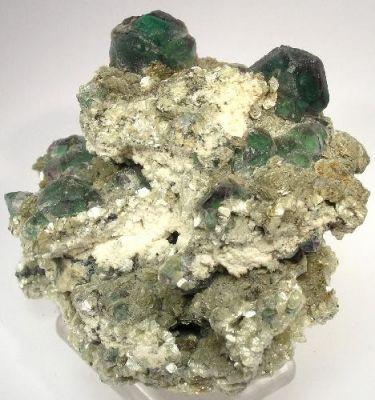 Fluorite, Muscovite, Feldspar Group