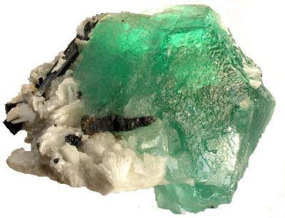 Fluorite, Albite (Var: Cleavelandite), Tourmaline