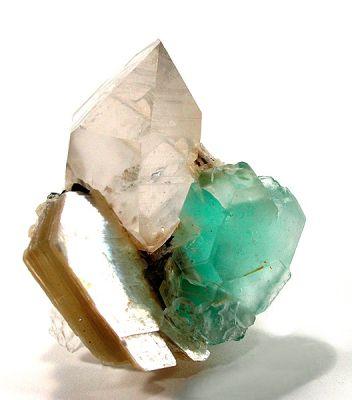 Fluorite, Quartz, Tourmaline, Muscovite