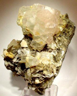 Fluorite, Albite, Muscovite