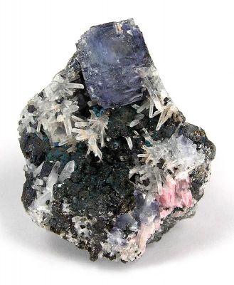 Fluorite, Bornite, Tetrahedrite