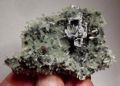 Galena, Quartz, Chlorite Group