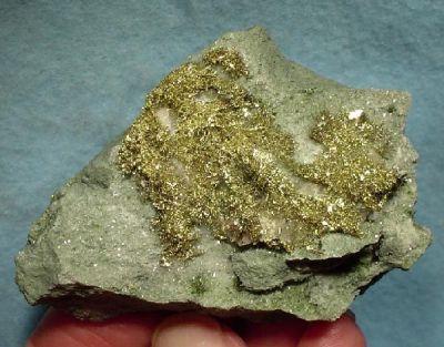 Gold, Calcite