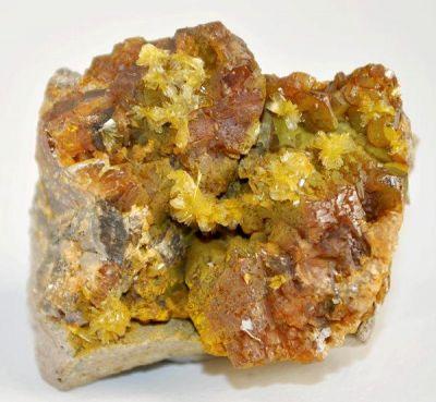 Greenockite, Hemimorphite, Sphalerite