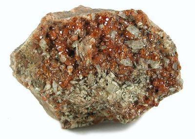 Grossular (Var: Hessonite), Diopside